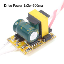 Top grade AC 85-265V Driver Supply 1x3W For High Power LED Light 600mA  #68436