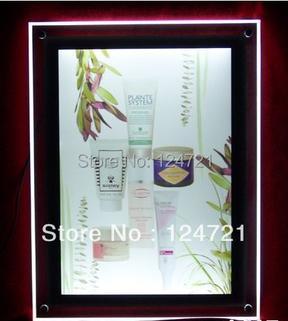 2016 advertising high quality ultra thin slim wall mounted acrylic lighted panel movie poster frames box a3 size