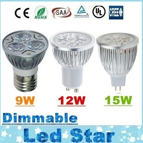 CREE 9W 12W 15W Led Spot Bulbs Light E27 E26 B22 MR16 GU10 Led Dimmable Lights Lamp Warm/Natrual/Cold White AC 110-240V/12V(China (Mainland))