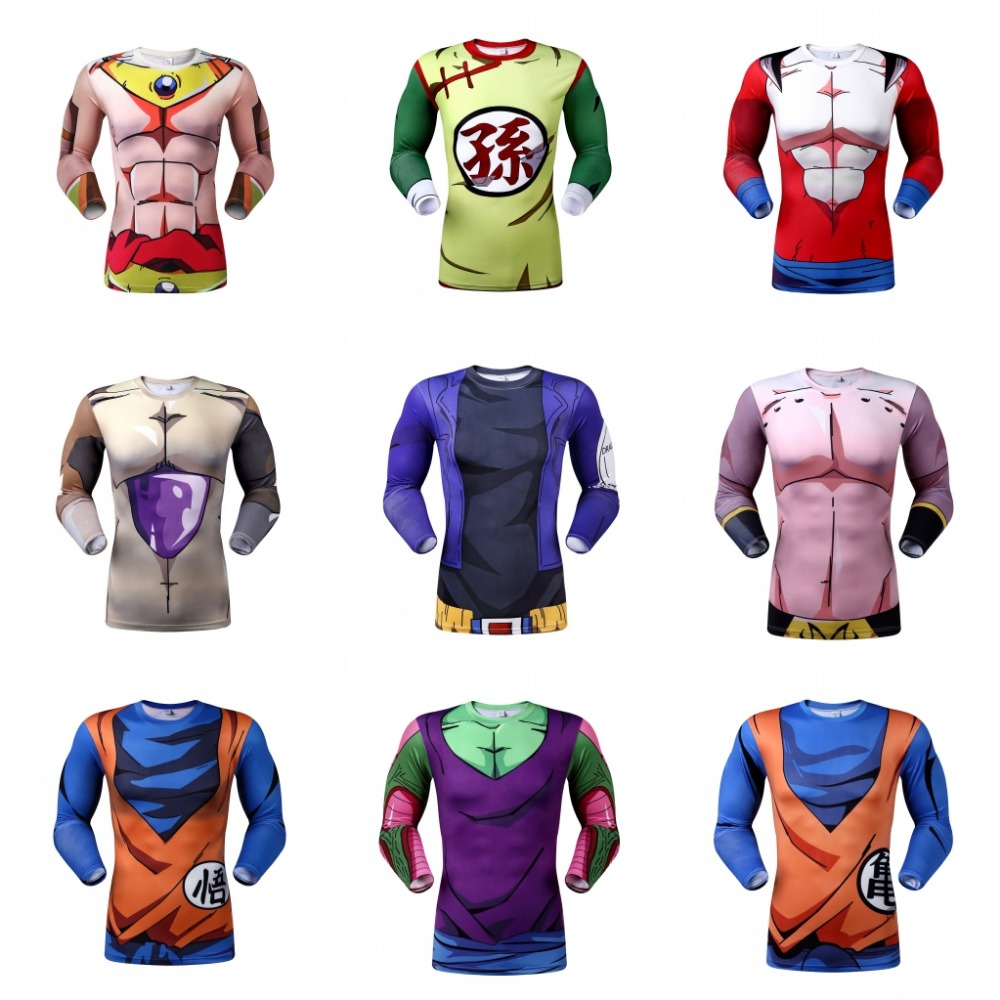 Goku T-Shirt Anime Dragon Ball Z Character T Shirt Fashion Clothing Sport Style Tees Women Men Cartoon Sport Tops Camisas(China (Mainland))