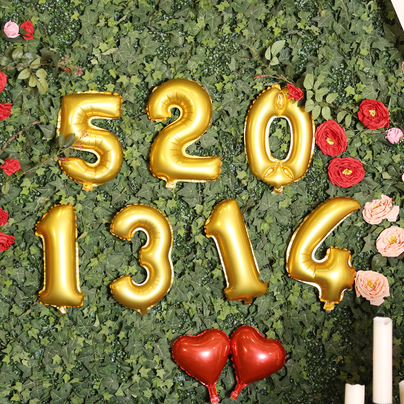 1pc large gold alphabet letters number helium balloons birthday new year foil balloon party aluminium wedding