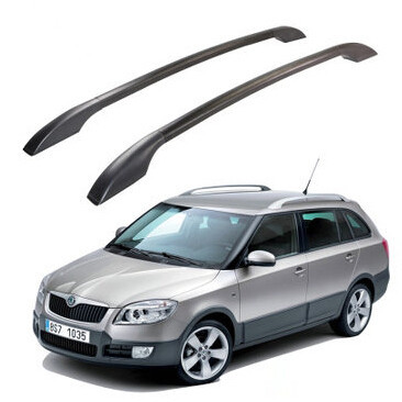 Free shipping stainless steel roof racks roof boxes easy install Without drilling Luggage roof rack bars case for Skoda fabia(China (Mainland))