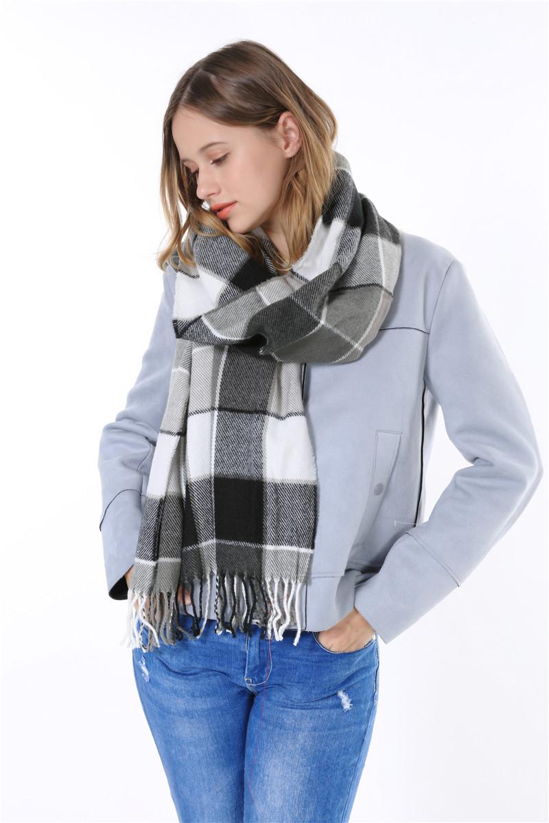 Winter 2015 font b Tartan b font Scarf fashion Plaid Scarf Women men Blanket Oversized Wrap