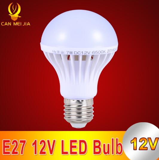 1pcs E27 LED Bulb Lights DC 12V Led Lamp Lamparas E27 12 volt 3W 5W 7W 9W 12W Enery Saving lampada Cool White(China (Mainland))
