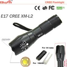 flashlight 18650 torch CREE L2 Led waterproof ZOOM Light EBuyFire E17 XM-L2 2300Lumens Lamp 3x AAA battery Flash led lighting(China (Mainland))