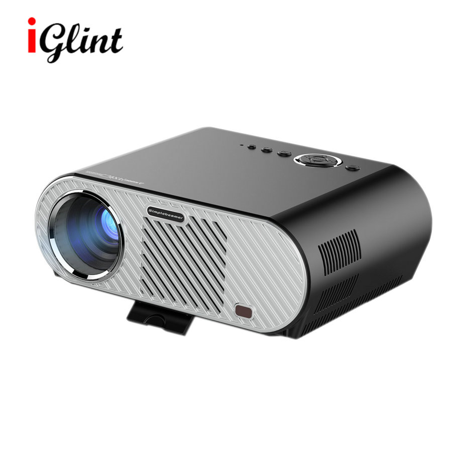 IGLINT GP90 3200Lumens 1280x800pixels Portable 1080p Full HD LED Projector Home Cinema Theater Multimedia Projector Beamer(China (Mainland))