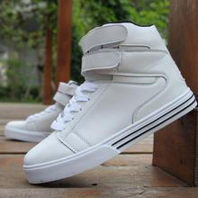 Mens Justin Bieber White Style Black Society Velcro High Top Casual Shoes
