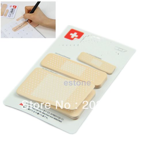 Novelty band aid Adhesive Plaster Note Post-it Bookmark Band Memo Sticky notes(China (Mainland))