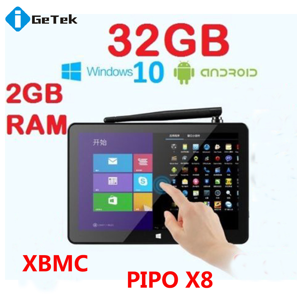 PIPO X8 MINI PC 2GB/32GB Windows 10+Android 4.4 Dual OS 7 Inch Screen Tablet Computer Z3736F (Quad-Core) Touch Panel PC TV Box(China (Mainland))