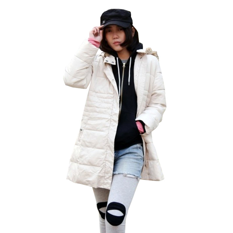 2015 New Winter Coat Women Medium-long Fur Collar Down Cotton Jacket with Removed Hood Men's Down jacket Parka Plus Size L-4XL(China (Mainland))