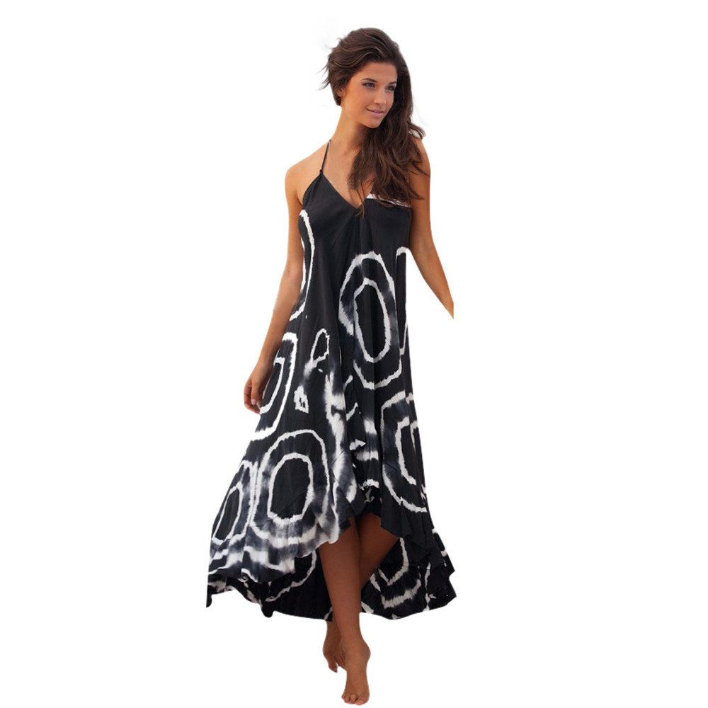 Feitong Summer Style Women Long Dress Sexy Strap Backless ...