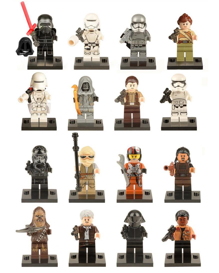 1 STAR WARS FORCE AWAKENS COMPATIBLE LEGO MINIFIGURES Captain Phasma KYLO REN Chewbacca Speeder Finn block kids toys - Easter Toys Store store