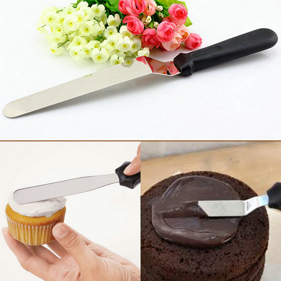 stainless steel butter cake cream knife spatula for cake smoother