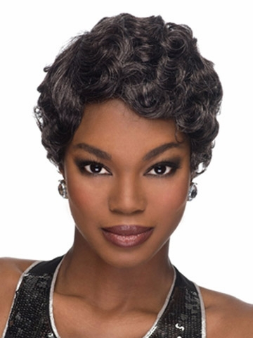 short kinky curly wigs classic pixie cut synthetic wig