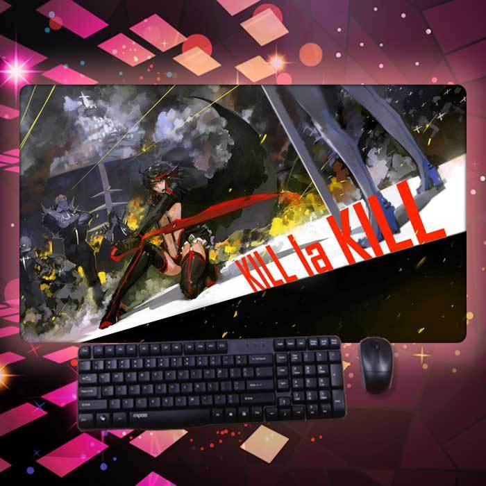 2015 Anime Kill La Kill Kawaii Lolita Cool Unique Large Game Mouse Pad Computer Desk Pad Table Cushion Cosplay(China (Mainland))