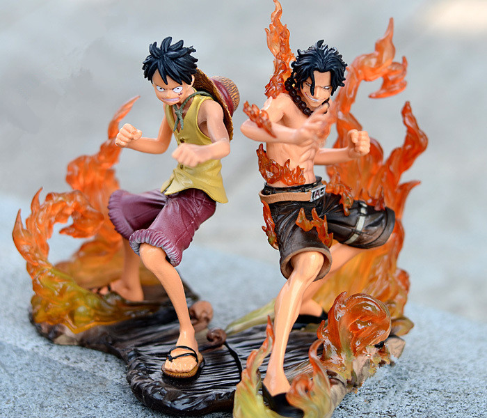 15cm One Piece luffy fighting Fire Fist Ace Portgas D Ace Boxed PVC Action Figure Collection Model Toy Gift Free Shipping Big(China (Mainland))