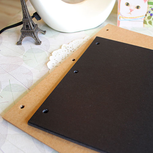 10 pcs lot DIY Photo Album Black Card Cowhide Paper Vintage Handmade Scrapbooking Albums Frame Sheets
