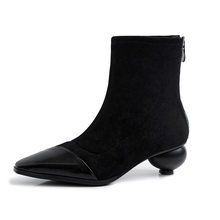 WETKISS Snake Skin Pu Ankle Boots Women Sexy High Heels Booties Square Toe Shoes Female Stretch Party Sock Shoes Ladies Winter(China)