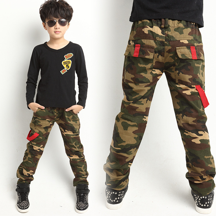 Fashion New 2015 Boys Casual Camouflage Pants Children