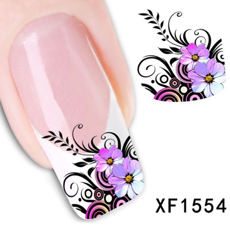 2016 Nail Art Sticker And Decals Water Transfer Adhesive Nails Decoration Nail Art Fingernail Decorations Nails Stickers NXF1554(China (Mainland))