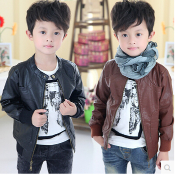 E-Home2015  Spring Boys Clothing Girls Clothing Baby Leather Clothing Jacket Outerwear-ME3009