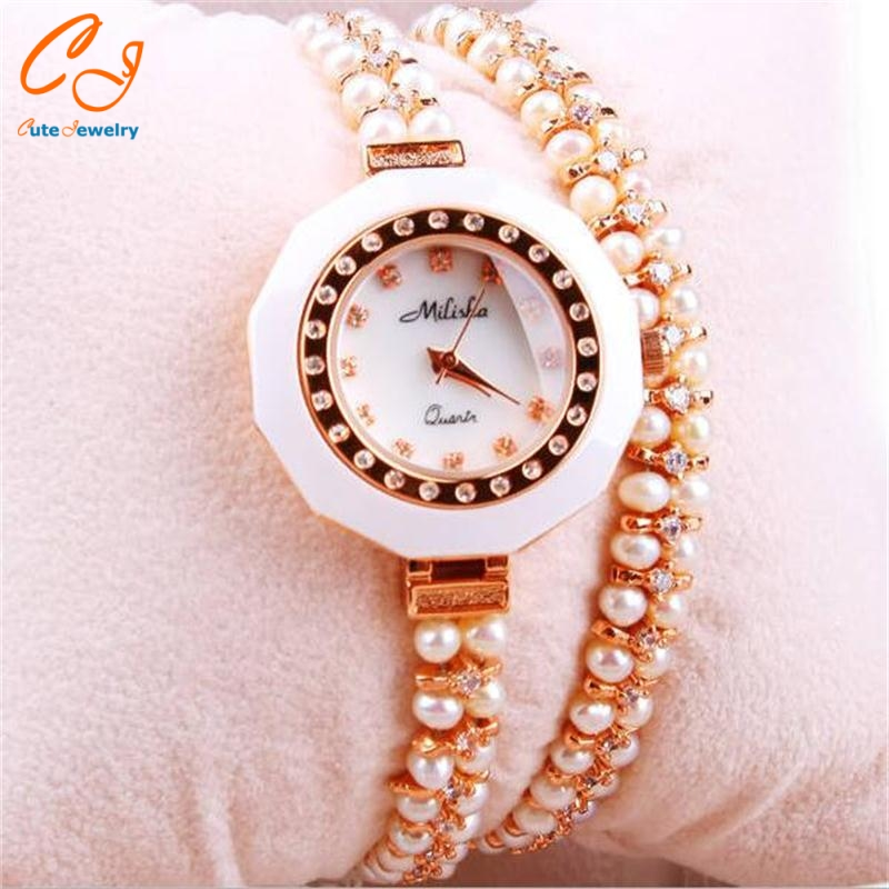 2016 fashion High quality pearl bracelet bracelet high-grade shell surface ms stone-encrusted bracelet bracelet mother's gift от Aliexpress INT