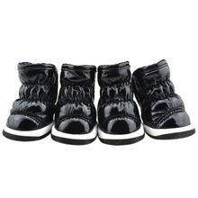 Köpek Ayakkabı Kat Tasarım Uzay Deri Pet sıcak ayakkabı Kış Moda Yeni Ürün Pet köpek çizmeleri Soğuk Rahat Cilt dostu(China)