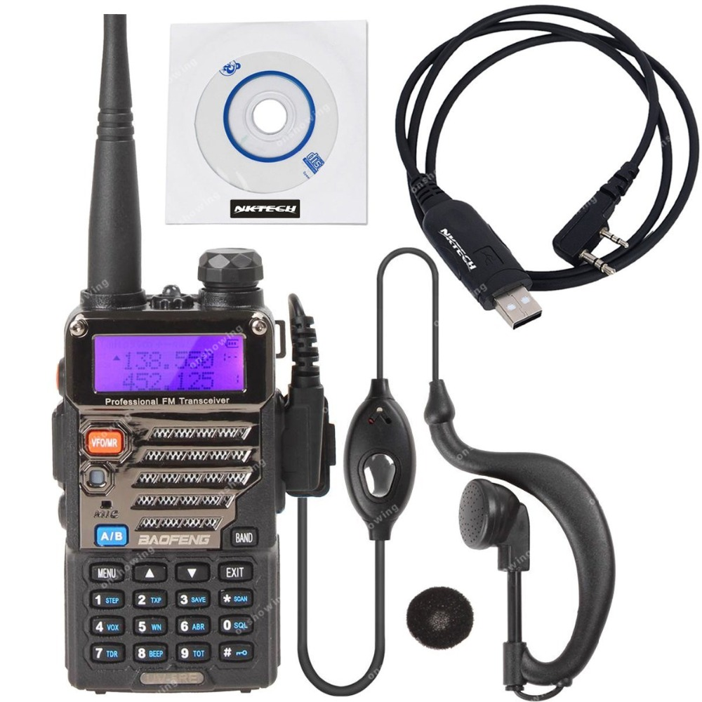 NKTECH BAOFENG UV-5RE Dual Band VHF UHF 136-174/400-520MHz 5W CDCSS FM Ham Transceiver Two Way Radio USB Programming Cable(China (Mainland))