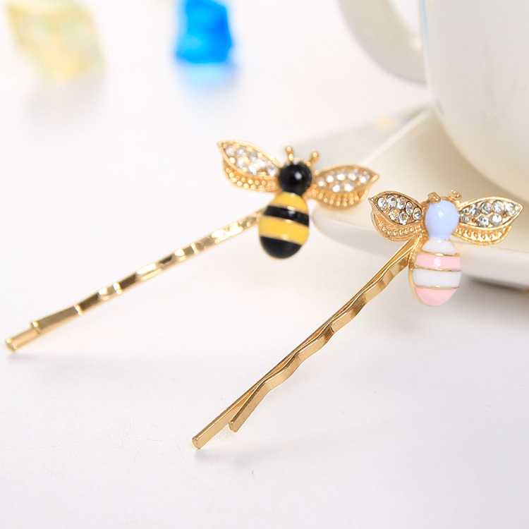 Cute Bees Crystal Wings Hairpins Decorations Hair Accessories Clips for Girls Barrettes Hair Jewelry for Women(China (Mainland))