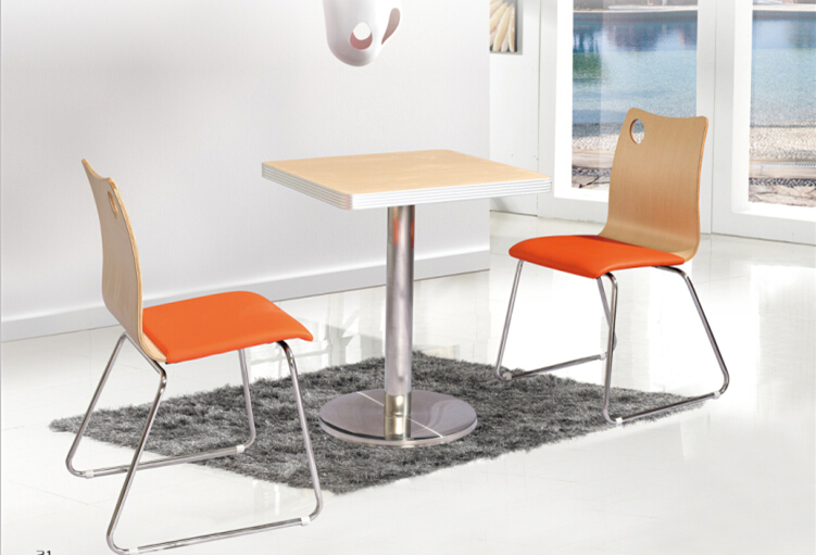 Restaurant table chair sets Dining table set with 4 chairs in canteen(China (Mainland))