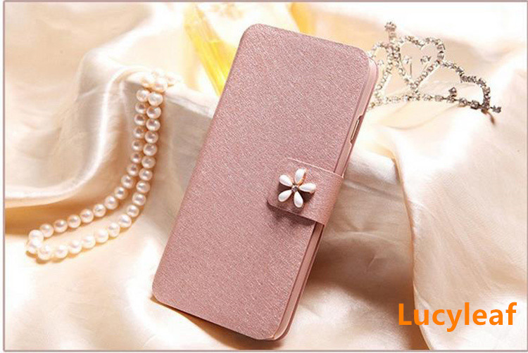 For Microsoft Nokia Lumia 625 Case Luxury Silk Flip Cover Case PU Leather Phone Bags For Microsoft Nokia Lumia 625