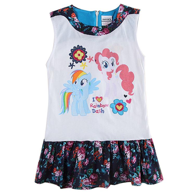 girl dress sleeveless girl kids dress for girls clothes fashion novatx brand kids clothes cotton baby dressH6392<br><br>Aliexpress