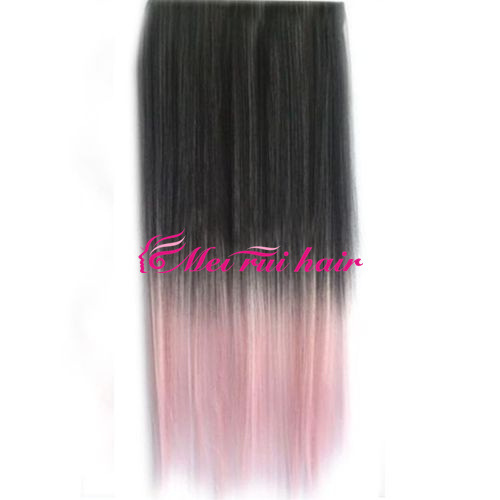 AliExpress Hot color hair wig Europe and expose piece long straight hair black cherry pink gradient can be customized(China (Mainland))