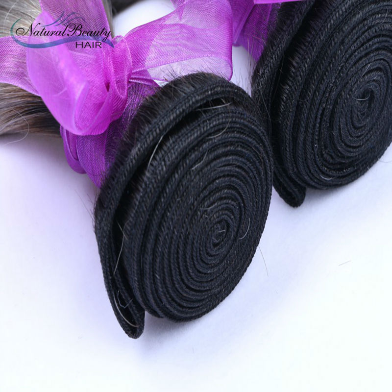 100% Brazilian Human Hair 1 b grey virgin hair straight Natural beauty human hair Ombre color high quality selling