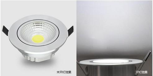 Fedex free shipping AC85V-265V 20W COB led lamp dimmable recessed ceiling lights bulb down lights(China (Mainland))