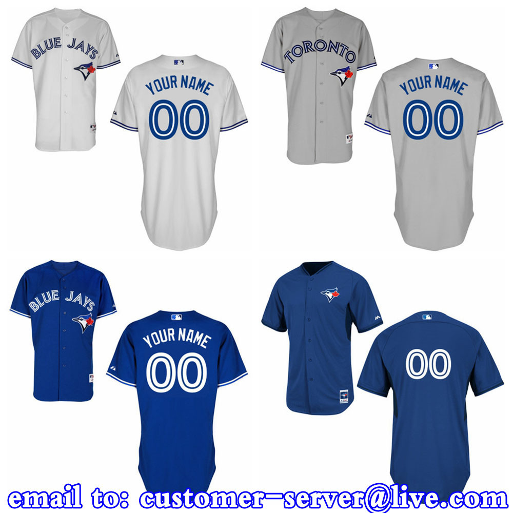 Custom Mens/Womens/Youth/Kids Toronto Blue Jays Russell Martin / Joe Carter / Jose Bautista Baseball Jersey 2015 New Cool Base(China (Mainland))