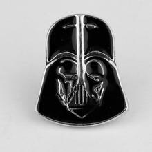 Star Wars Galactic Empire Darth Vader Black Enamel Mask brooch For Mens Christmas gift Brand Buttons Gemelos Fashion