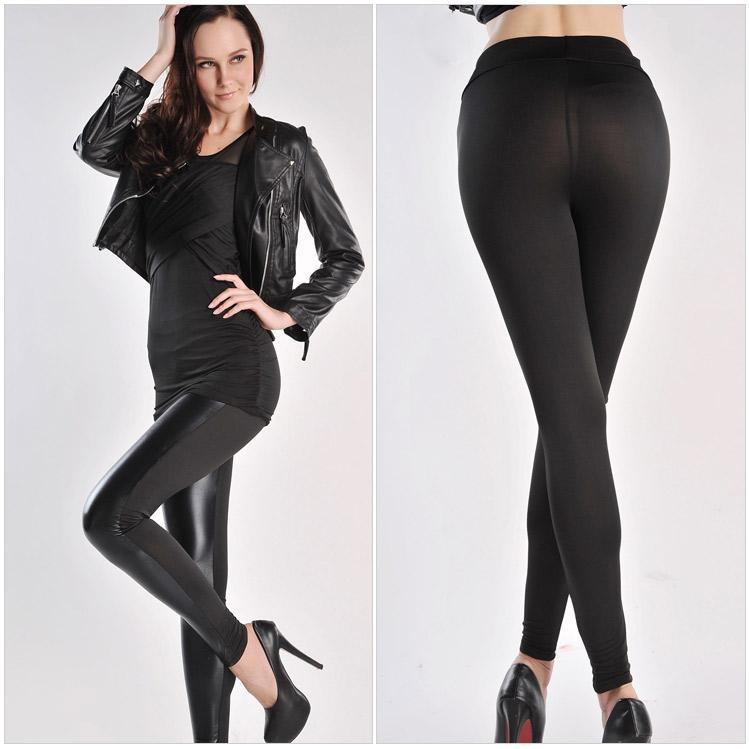 Cheap Shiny Black Leggings Black Shiny Pants Cheap