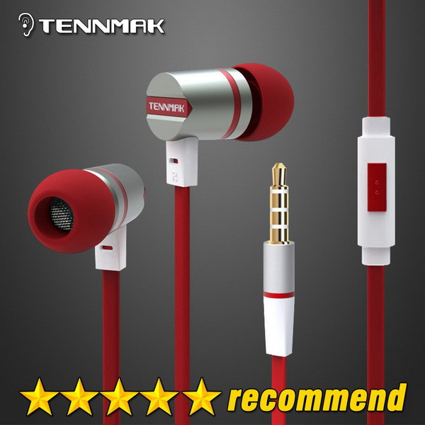 Tennmak Dulcimer 3.5mm In-ear Metal Earphones Earbud Headphone with Microphone & Remote clear sound & strong bass free shipping(China (Mainland))