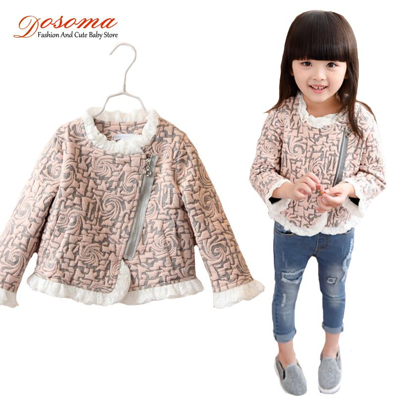 2015 fashion jackets girl Cute Geometric casual girls Lace stitching kids Jacket children outwear Spring Autumn jacket - Fashion and Baby Store store