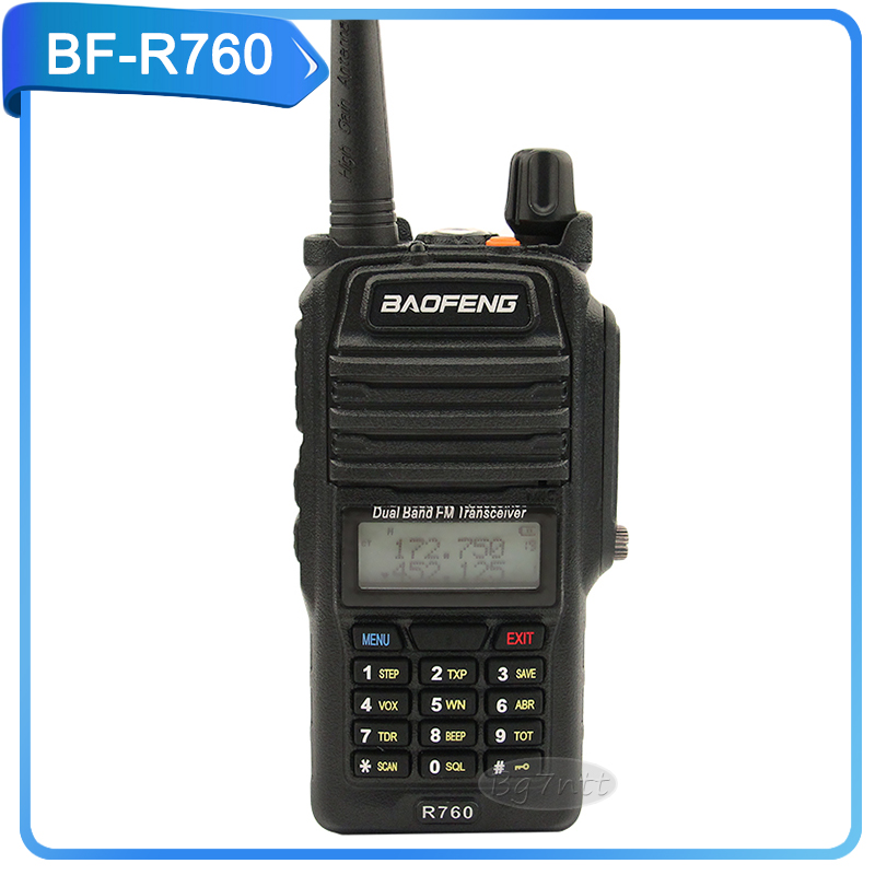 baofeng BF-R760 UHF FM transceiver 5W portable two way raido Waterproof IP 57 136-174/400-520mHz pofung R760 handheld black(China (Mainland))