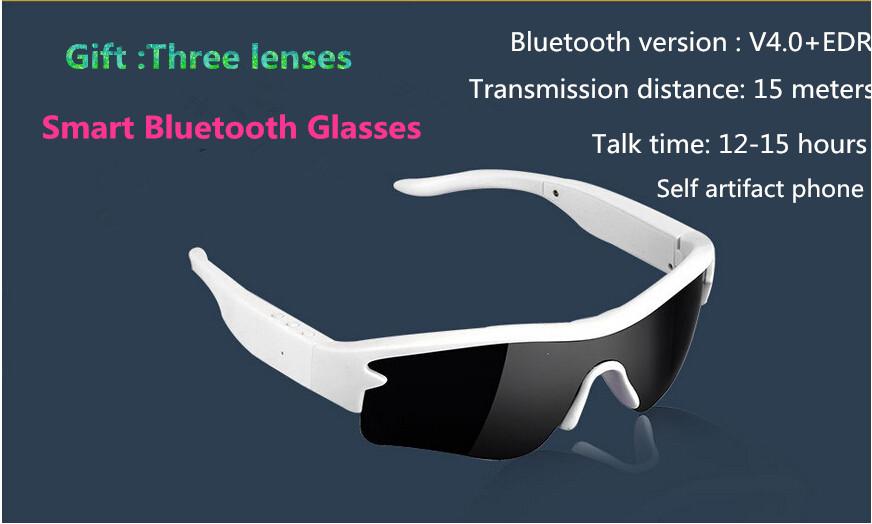 Smart Bluetooth Glasses Stereo Sunglasses  Bluetooth Headset Sports Headphone Wi