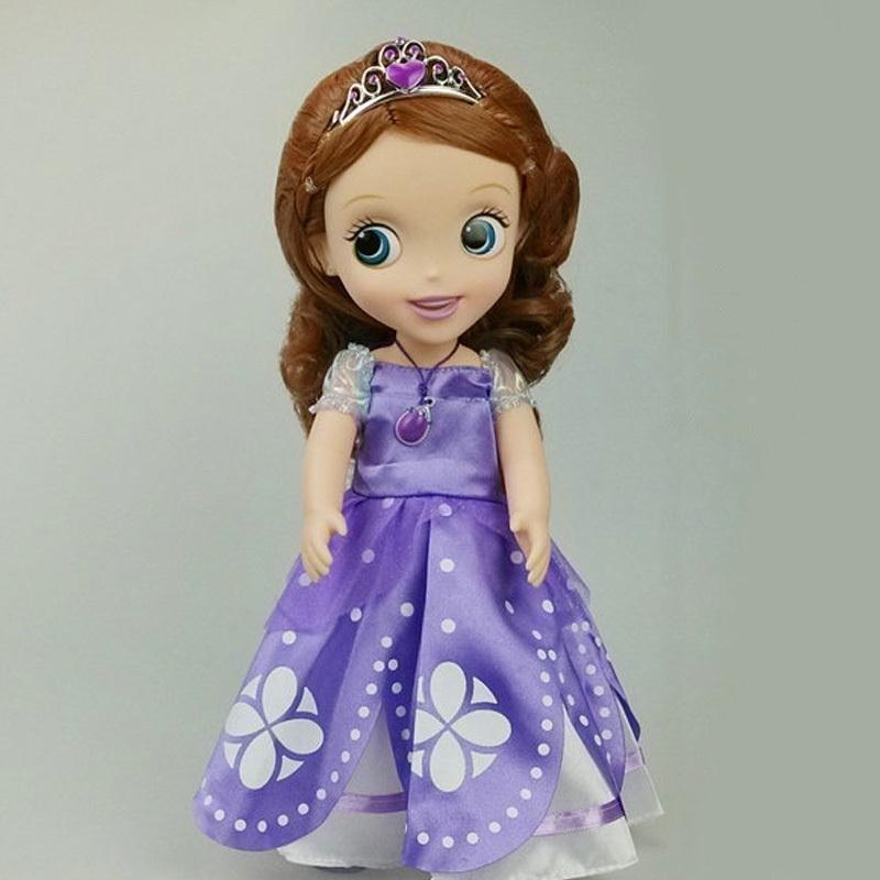 Hot! Original edition 12inch Sofia the First Sofia princess Bobbi doll VINYL toy Snow White Mermaid Anna Elsa doll(China (Mainland))