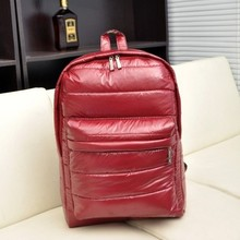 School Preppy Style Cotton Shoulder Bag 8 Color Women Men Duvet School Backpack Travel Laptop Hand Carry Down Feather Bag gw0035(China (Mainland))