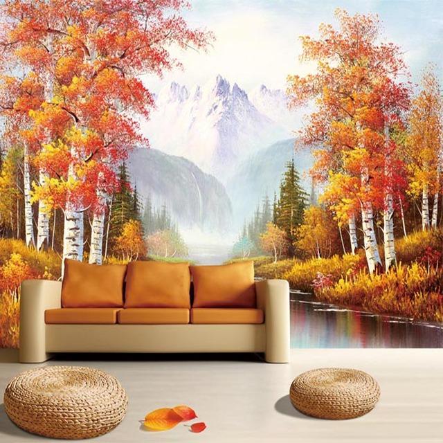 Comprar estilo europeo retro rboles - Murales papel pintado para pared ...