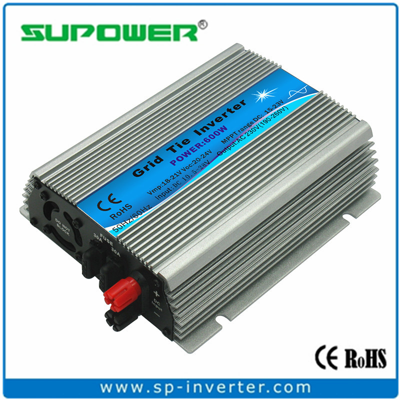 FREE SHIPPING Indoor design 600W Solar Micro Grid Tie Inverter input 10.5-28V DC for Small home Solar Power System(China (Mainland))