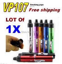 1pcs Click N Vape metal smoking pipes vaporizer  cigarette tubes same as ego ce4 e-cigarette for tobacco leafs