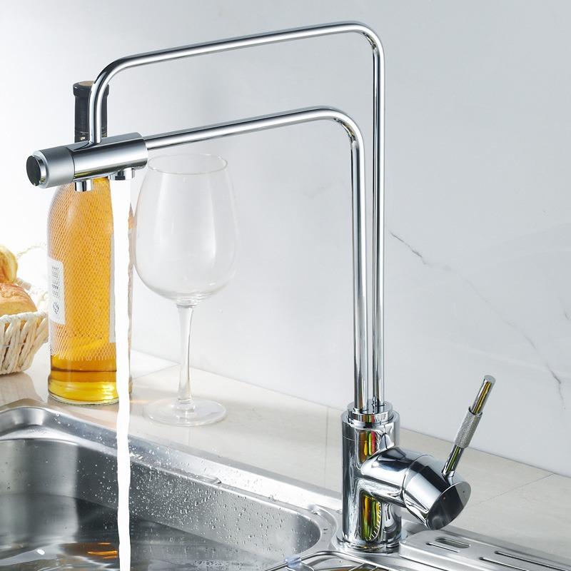 kitchen faucet swivel spout sink mixer 3 three way sink