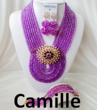 Luxury Bridal women Nigerian Crystal Beads necklace Jewelry sets suit Set Latest Fashion African Wedding Free Shipping C-2548<br><br>Aliexpress