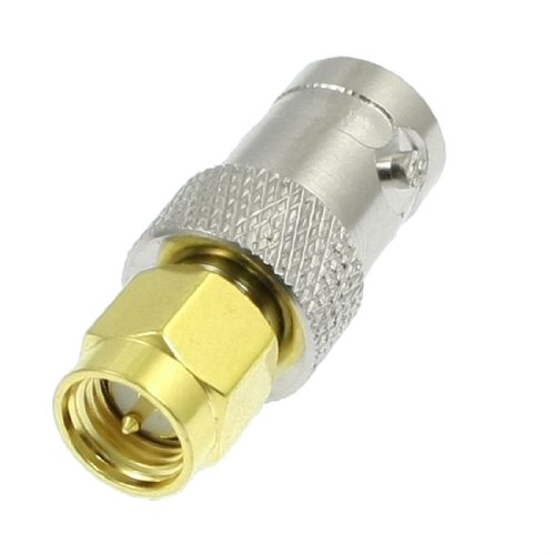 2015 Hot New Gold Tone Metal SMA Male to Silver Tone BNC Female Connector Adapter